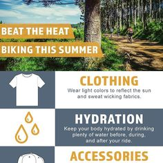 Beat the heat during those sweltering dog days of summer. . . . . . #cyclinglife #cyclingpics #cyclinglove #cyclingporn #cyclingaddict #bikerack #familybiking #biketrip #racklove #adventureseekers #bikeadventure #infographic #rideyourbike #ridelikeagirl #mtblife #mountainbiker #totembikeracks #bringyourbike