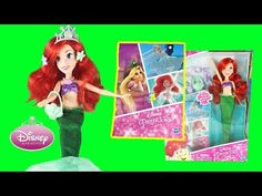 Ariel is ready for fun activities under the sea with this super cute Disney Princess Doll. Ariel's Activity Time doll from Hasbro comes with hair clips, a ti. Princess Videos, Disney Princess Dolls, Cute Disney, Rapunzel, Fun Activities, Cinderella, Disney Characters, Fictional Characters, Super Cute