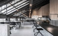 neri&hu converts industrial attic into office for flamingo shanghai