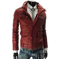 sale retailer 5cdc4 ed5ef RED leather jacket, FOR MEN!! Yess ! Chaqueta De Cuero, Chaquetas,