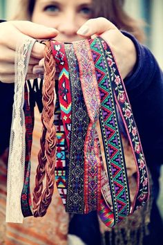 Boho-bands. I could look like such a hippy wearing these with my hair down!