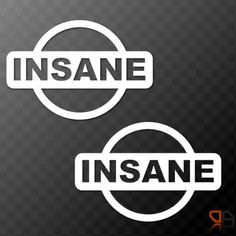 2x (pair) Nissan INSANE Vinyl Car Decals Stickers JDM Micra 200sx Skyline 350z