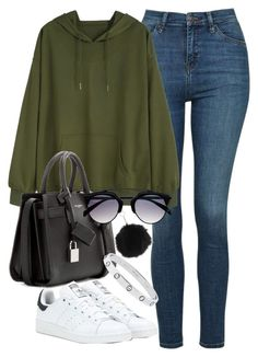 Untitled #5223 by jumana379 on Polyvore featuring Topshop, adidas and Yves Saint Laurent