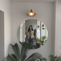 Silver Wall Mirror, Wood Framed Mirror, Aesthetic Rooms, Aesthetic Girl, Art Deco Mirror, Art Deco Home, Art Hoe, My New Room, Aesthetic Pictures