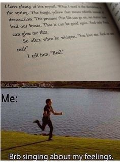 High school musical and the hunger games mixed together. I'm jumping for joy.