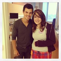 Taylor Lautner visited with our patients during the grand opening of Seacrest Studios