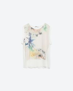 Image 8 of WATERCOLOR FLOWER TOP from Zara