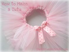 How To Make a Cute Tutu make sure to click the link under the image and some information to get to the site with the steps