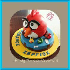 Angry birds fondant cake