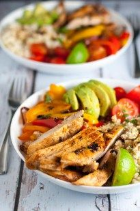 Chicken Fajita Bowl with Cauliflower Rice - Flavour and Savour