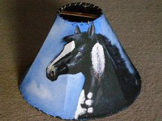 ༻✿༺ ❤️ ༻✿༺ Painted Leather Lamp Shade | Mission Del Rey ༻✿༺ ❤️ ༻✿༺