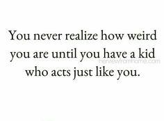 So very true. Random dancing, loud singing and all.