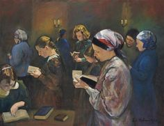 Zvi Malnovitzer - The Women's Gallery, oil on canvas