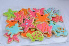 Girl Sea Cookies/Summer Birthday Cookies/Beach Cookies/ Under the Sea Party Barbie Birthday, Pirate Birthday, Girl Birthday, Pirate Party, Summer Birthday, 2nd Birthday Parties, Birthday Ideas, Bubble Guppies Birthday, Summer Cookies