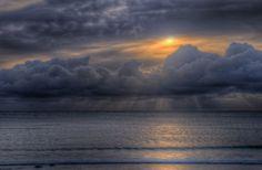 Sunrise over Douglas on the Isle of Man