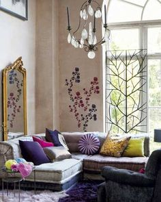 cozy boho chic lounge