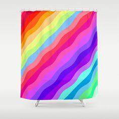 Rainbow Shower Curtain by Ornaart - $68.00