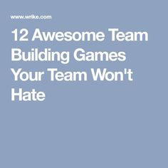 These 12 team-building games help any team learn about each other — how each person thinks, works, solves problems, and has fun. Team Building Questions, Indoor Team Building Games, Motivational Games, Team Bonding Activities, Teamwork Games, Teambuilding Activities, Team Motivation, Team Building Exercises, Ice Breaker Games