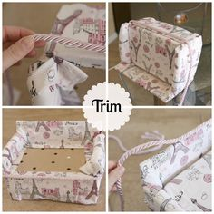 tutorial- doll sofa made out of a fruit crate