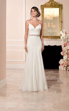 6332 Sexy Silk Wedding Dress by Stella York. Find this dress at Janene's Bridal Boutique located in Alameda, Ca. Contact us at (510)217-8076 or email us info@janenesbridal.com for more information.
