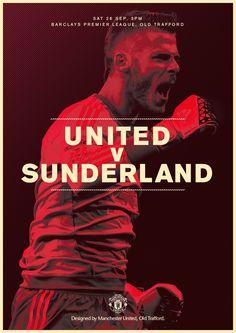 Match poster. Manchester United v Sunderland, 26 September 2015. Designed by @ManUtd