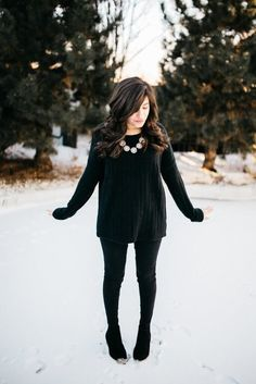 Outfit of the Week // How to Wear All-Black // Party of Sarah