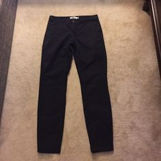 Khaki pants Fitted navy blue khaki pants. Worn a couple times, in excellent condition. H&M Pants Trousers