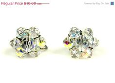 On Sale Vintage Aurora Borealis Crystal Cluster by TheFashionDen