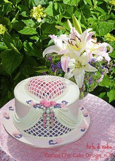 romantic heart - Cake by tortedinadia (birthday cake decorating elegant) Royal Icing Cakes, Cake Icing, Cupcake Cakes, Buttercream Cake, Fancy Cakes, Cute Cakes, Pretty Cakes, Unique Cakes, Creative Cakes