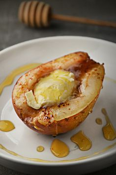 Magic Recipe, I Foods, Baked Potato, Camembert Cheese, Pear, Bakery, Pudding, Sweets, Cooking