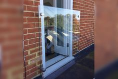 Small glass Juliette balcony Lovely glass Juliette balcony which lets air and light in yet provides a safe opening cover. Juliette Balcony, Apartment Balconies, Apartments, Glass Balcony, Laminated Glass, Glass Balustrade, Light In, Balcony Design, Architectural Features
