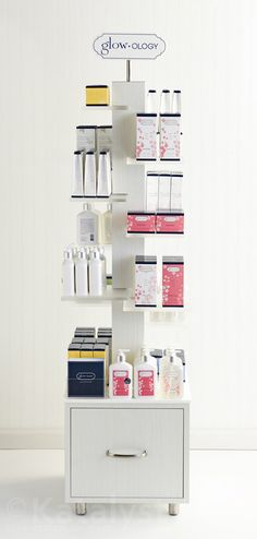 beauty products island display
