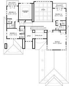 Luxury Style House Plans   14736 Square Foot Home , 2 Story, 9 Bedroom And  8 Bath, 10 Garage Stalls By Monster House Plans   Plan 63 266 | Houses ...