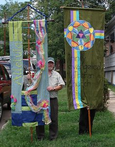 Liturgical banners by wandamarie, via Flickr