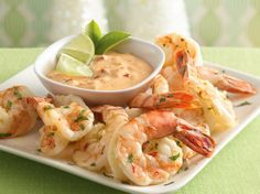 Lime juice and peel add a tangy citrus flavor to a spicy marinade. Serve the cooked shrimp with a creamy dip for even more flavor!