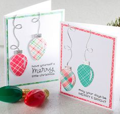 String of Lights Christmas Card - Make and Take at Craft Warehouse