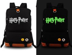Illuminating Harry Potter High-Quality Canvas School Backpack 2 Colors
