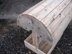 DIY saddle stand made from reclaimed wood pallets.  Made for 20 bucks or less -- even free, depending on what you have.