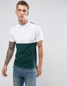 ASOS Muscle Fit Jersey Polo With Contrast Yoke
