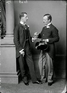 With his Equerry-in-Waiting from 1884 to Captain the Honorable Alwyn Henry Fulke Greville second son of the Earl of Warwick. Gods and Foolish Grandeur: Albert Victor Christian Edward - Prince Eddy - photographs by Bassano, 1875 and circa late Queen Victoria Family, Princess Victoria, Prince Albert, Victorian Mens Clothing, Victorian Era, Victorian Fashion, Peter And The Starcatcher, Alexandra Of Denmark, Reine Victoria