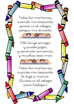 54 Poemas Cortos para Niños » Poesias infantíles Bonitas | ParaNiños.org Bilingual Classroom, Bilingual Education, Classroom Language, Spanish Classroom, Early Education, Middle School Spanish, Elementary Spanish, Teaching Spanish, Preschool Prep