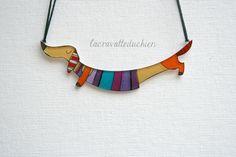 Dachshund jewelry  Dachshund dog necklace  by lacravatteduchien, €20.00