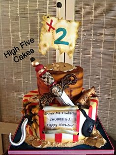 Pirates Life for Me - by flipnsarah @ CakesDecor.com - cake decorating website