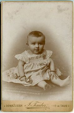 C1900 Cab Photo Czechia Small Baby Girl Nice Dress Atelier Jos Tauber Domazlice | eBay