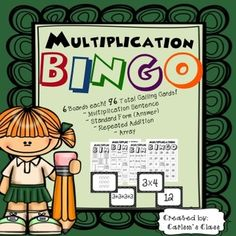 BINGO!! This set gets kids practicing their multiplication skills in such a fun way!!