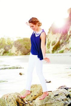 Get nautical (and nice) in navy and crisp white. LC Lauren Conrad at #Kohls