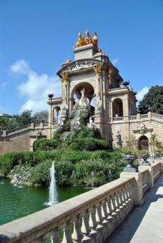 Fontana nel Parc de la Ciutadella a Barcellona,