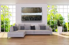 """Freue mich, euch diesen Artikel aus meinem Shop bei #etsy vorzustellen: VICTORIA XXL Acryl Gemälde """"Light Rise UP"""" 120x80cm Abstrakt Outdoor Sofa, Outdoor Furniture, Outdoor Decor, Sectional Sofa, Couch, Light In, Palette, Victoria, Modern"""