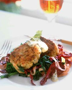 A food processor makes easy work of fish cakes, although they can also be made by hand.