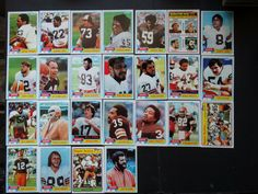 1981 Topps Cleveland Browns Team Set of 25 Football Cards #ClevelandBrowns